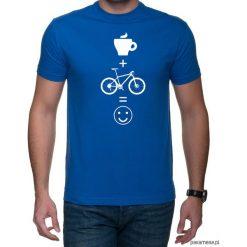 Koszulka T-SHIRT kawa mtb. Niebieskie t-shirty męskie z nadrukiem Pakamera, m. Za 75,00 zł.