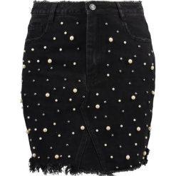 Spódniczki: Missguided STUDDED MINI SKIRT  Spódnica jeansowa black
