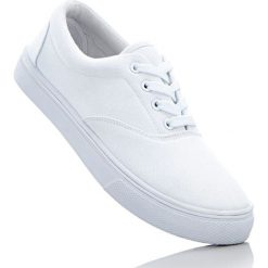 Tenisówki bonprix biały. Białe tenisówki męskie marki bonprix. Za 49,99 zł.