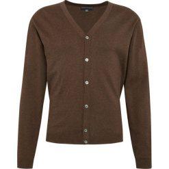 Finshley & Harding - Sweter męski – Pima-Cotton/Kaszmir, brązowy. Czarne swetry rozpinane męskie marki Finshley & Harding, w kratkę. Za 179,95 zł.