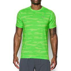 Under Armour Koszulka męska Threadborne Run Mesh SS limonkowa r. M (1298851-752). Szare koszulki sportowe męskie marki Under Armour, z elastanu, sportowe. Za 117,75 zł.