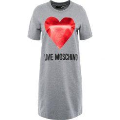 Love Moschino Sukienka letnia melange dark grey. Szare sukienki letnie marki Love Moschino, z bawełny. Za 669,00 zł.
