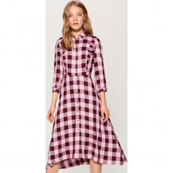 Sukienka midi w kratę - Wielobarwn. Szare sukienki marki Mohito, midi. Za 149,99 zł.