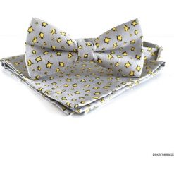 Le Petit Prince - mucha + poszetka. Szare muchy męskie marki Pakamera, z tkaniny. Za 135,00 zł.