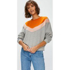 Only - Bluza Gigi. Szare bluzy damskie marki ONLY, s, z bawełny, casualowe, z okrągłym kołnierzem. Za 119,90 zł.