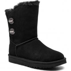 Buty UGG - W Short Turnlock Bling 1095703 W/Blk. Szare buty zimowe damskie marki Ugg, z materiału, z okrągłym noskiem. Za 969,00 zł.