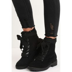 Czarne Botki Look Back. Czarne buty zimowe damskie Born2be, za kostkę, na niskim obcasie. Za 99,99 zł.