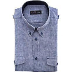 Koszula 15-03-28-K MATTEO. Brązowe koszule męskie na spinki marki QUECHUA, m, z elastanu, z krótkim rękawem. Za 199,00 zł.