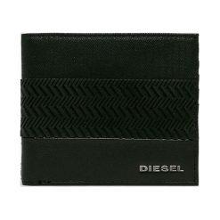 Diesel - Portfel skórzany. Czarne portfele męskie Diesel, z bawełny. Za 399,90 zł.