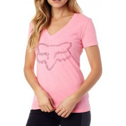 FOX T-Shirt Damski Phoenix V Neck Ss Tee Xs Różowy. Czerwone t-shirty damskie FOX, xs. W wyprzedaży za 67,00 zł.