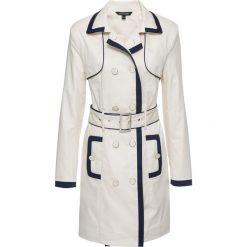 Płaszcz bonprix beżowo-ciemnoniebieski. Szare płaszcze damskie bonprix. Za 229,99 zł.