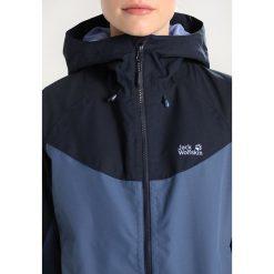 Jack Wolfskin NORTH RIDGE WOMEN Kurtka przeciwdeszczowa ocean wave. Niebieskie kurtki damskie turystyczne marki Jack Wolfskin, xl, z materiału. W wyprzedaży za 408,85 zł.