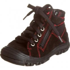 Sneakersy w kolorze ciemnobrązowym. Brązowe trampki chłopięce Zimowe obuwie dla dzieci, z materiału, na sznurówki. W wyprzedaży za 135,95 zł.