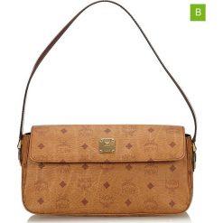 Torebki klasyczne damskie: Skórzana torebka w kolorze jasnobrązowym – 15 x 29 x 11 cm
