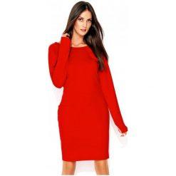 Numinou Sukienka Damska 38 Czerwony. Czerwone sukienki z falbanami marki Numinou, z długim rękawem. Za 205,00 zł.