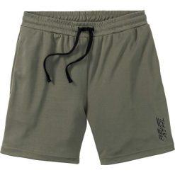 Długie szorty sportowe funkcyjne bonprix ciemnooliwkowy. Szare spodenki sportowe męskie marki Astratex, w ażurowe wzory, z gumy, sportowe. Za 74,99 zł.
