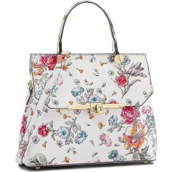 Torebka CREOLE - K10557 Kwiaty. Białe torebki klasyczne damskie Creole, w kwiaty, ze skóry, duże. W wyprzedaży za 199,00 zł.
