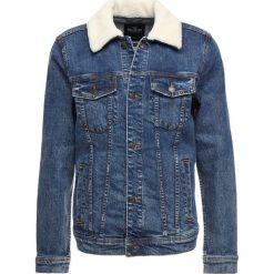 Hollister Co. COLLAR TRUCKER Kurtka jeansowa medium wash. Niebieskie kurtki męskie jeansowe marki Reserved, l. Za 359,00 zł.