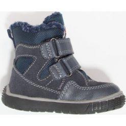 Lurchi JAUFENTEX Śniegowce navy. Czarne buty zimowe chłopięce marki Lurchi, z materiału. W wyprzedaży za 135,85 zł.