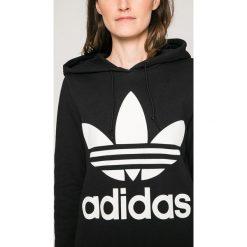 Adidas Originals - Bluza. Szare bluzy z kapturem damskie marki adidas Originals, z nadrukiem, z bawełny. Za 279,90 zł.