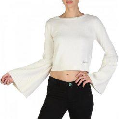 Guess Sweter Damski L Kremowy. Białe swetry klasyczne damskie marki Guess, l, z wełny. W wyprzedaży za 309,00 zł.