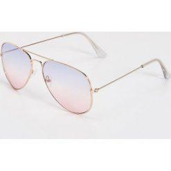 Okulary przeciwsłoneczne damskie: Okulary przeciwsłoneczne awiatorki – Wielobarwn