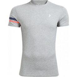 T-shirt męski TSM615 - średni szary melanż - Outhorn. Szare t-shirty męskie Outhorn, na lato, m, melanż, z bawełny. W wyprzedaży za 24,99 zł.