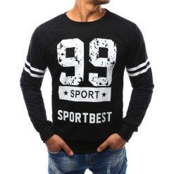 Bluzy męskie: Bluza męska z nadrukiem czarna (bx3276)