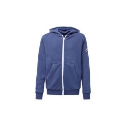 Bluzy dresowe Dziecko adidas  Bluza z kapturem Logo. Niebieskie bluzy chłopięce rozpinane marki Adidas, z dresówki. Za 125,30 zł.