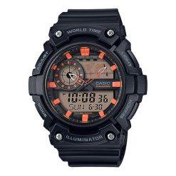 Zegarek Casio Męski AEQ-200W-1A2VEF WorldTime czarny. Czarne zegarki męskie CASIO. Za 279,99 zł.