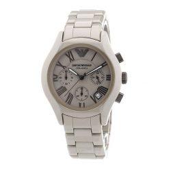 """Zegarek """"AR1460"""" w kolorze szarym. Zegarki męskie marki Festina & Hugo Boss, ceramiczne. W wyprzedaży za 1399,95 zł."""