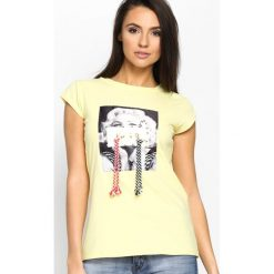 Bluzki, topy, tuniki: Żółty T-shirt Used Famous
