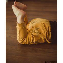 Spodnie chłopięce: Wiosenne spodnie baggy Jelenie musztardowe