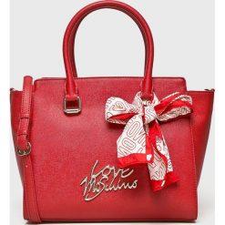 Love Moschino - Torebka. Różowe torebki klasyczne damskie marki Love Moschino, z materiału, duże. Za 999,90 zł.