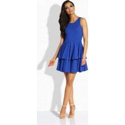 Sukienki: Elegancka sukienka z podwójną falbaną chaber