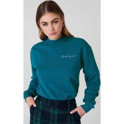 Bluzy damskie: NA-KD Trend Bluza Cool Girl – Green,Turquoise