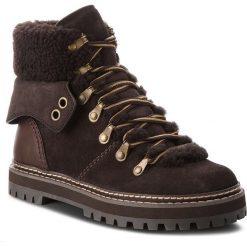 Trapery SEE BY CHLOÉ - SB31120A  Grafite B024. Brązowe buty zimowe damskie See by Chloé, ze skóry. W wyprzedaży za 1479,00 zł.