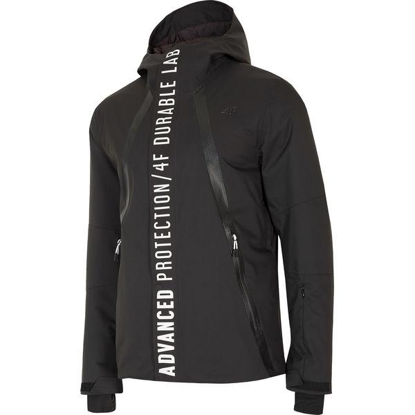 4b8f67dbbb523 Kurtka narciarska męska KUMN160 - czarny - Czarne kurtki męskie 4f, na  zimę, s, bez wzorów, z poliesteru, bez kaptura, narciarskie, dermizax.