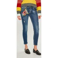 Answear - Jeansy. Niebieskie jeansy damskie rurki ANSWEAR, z bawełny. Za 199,90 zł.