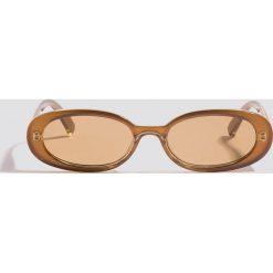 Okulary przeciwsłoneczne damskie aviatory: Le Specs Okulary przeciwsłoneczne Outta Love – Brown