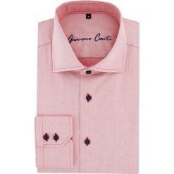 Koszula UGO 15-11-29-K. Różowe koszule męskie na spinki Giacomo Conti, m, z bawełny, z kontrastowym kołnierzykiem, z długim rękawem. Za 199,00 zł.