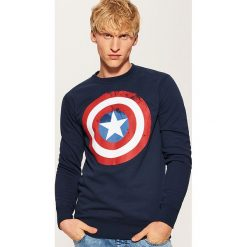 Bluza Kapitan Ameryka - Granatowy. Niebieskie bluzy męskie marki House, l. Za 99,99 zł.