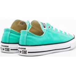 Converse - Tenisówki dziecięce. Szare buty sportowe dziewczęce marki Converse, z materiału, na sznurówki. W wyprzedaży za 99,90 zł.