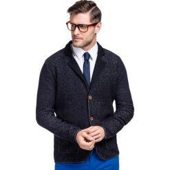 Sweter MARCO SWG000003. Czarne swetry rozpinane męskie Giacomo Conti, m, z materiału, z kontrastowym kołnierzykiem. Za 299,00 zł.