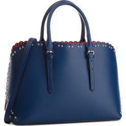 Torebka CREOLE - K10538  Granat. Niebieskie torebki klasyczne damskie Creole, ze skóry. W wyprzedaży za 269,00 zł.