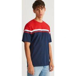 T-shirt - Granatowy. Niebieskie t-shirty męskie Reserved, l. Za 49,99 zł.