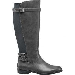 Kozaki damskie Graceland popielate. Czarne buty zimowe damskie marki Graceland, w kolorowe wzory, z materiału. Za 179,90 zł.