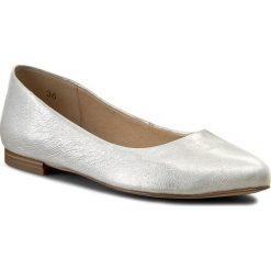 Baleriny damskie: Baleriny CAPRICE – 9-22107-28 Silver Metal. 920
