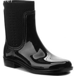 Kalosze TOMMY HILFIGER - Tommy Knit Rain Boot FW0FW02940  Black 990. Czarne buty zimowe damskie TOMMY HILFIGER, z materiału. Za 399,00 zł.
