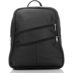 ALENA Skórzany plecak damski Czarny. Czarne plecaki damskie marki Abruzzo, ze skóry. Za 129,90 zł.